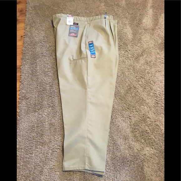 pants dickies fit twill pant waist s com men clothing comforter relaxed amazon comfort dp